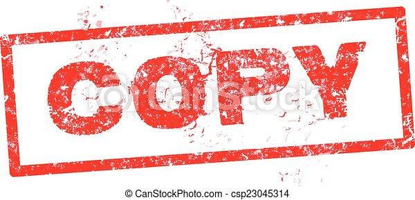 Grunge copy rubber stamp, vector illustration - csp23045314
