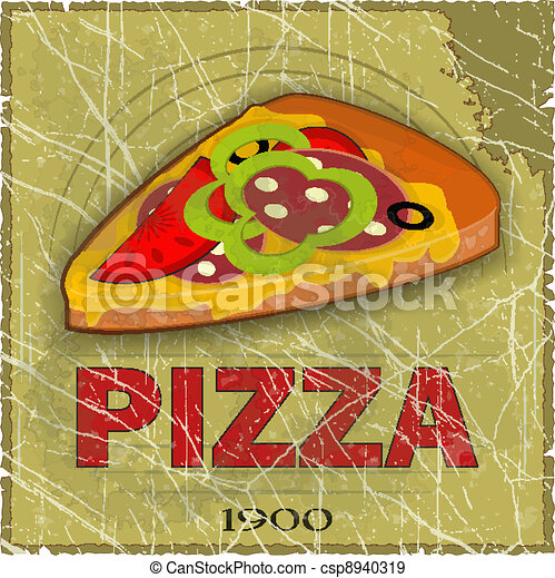 Grunge Cover for Pizza Menu - csp8940319