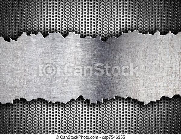 grunge crack metal background tempalte - csp7546355