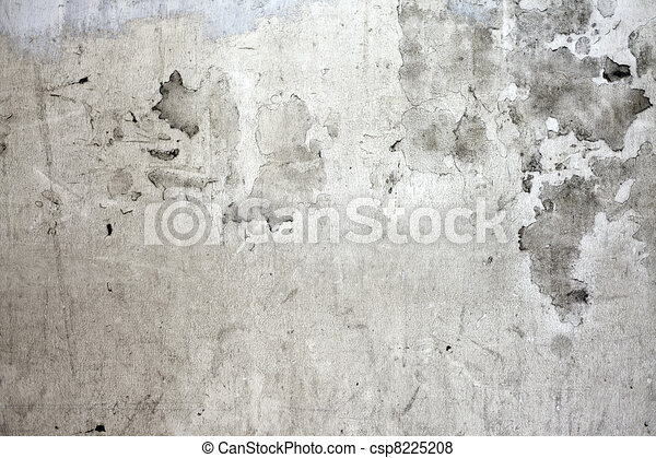 The grunge cracked concrete wall for design.