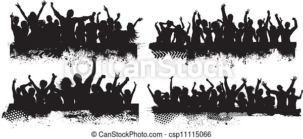 Grunge crowd scenes - csp11115066