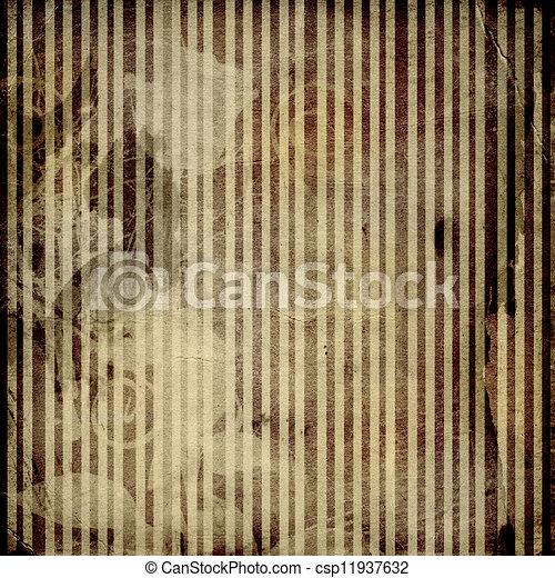 Grunge crumpled paper design in scrapbooking style  - csp11937632