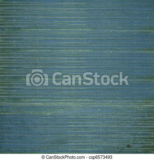 Grunge dark blue wooden slatted background - csp6573493