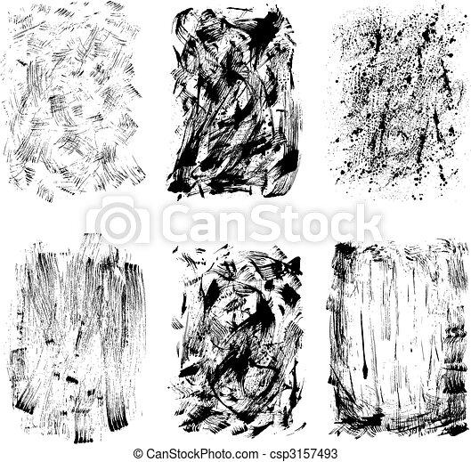 grunge, desenho, textura - csp3157493