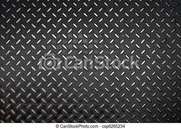 grunge, diamant, métal, fond - csp6265234