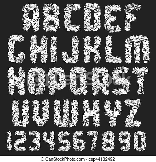 Grunge Dirty Font. - csp44132492