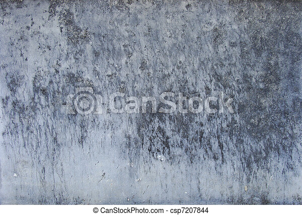 grunge dirty worn blue and gray wall - csp7207844