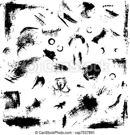 grunge, diseño, su, colección - csp7537891