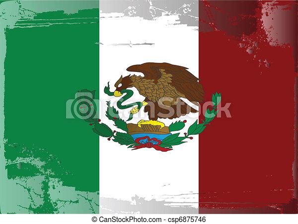 Grunge Drapeau Series Mexico Series Mexico Drapeau Vecteur