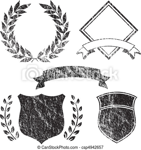 Grunge-Banner und Logoelemente - csp4942657