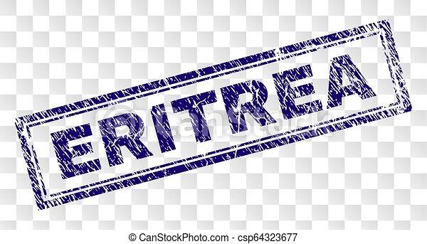 Grunge ERITREA Rectangle Stamp - csp64323677