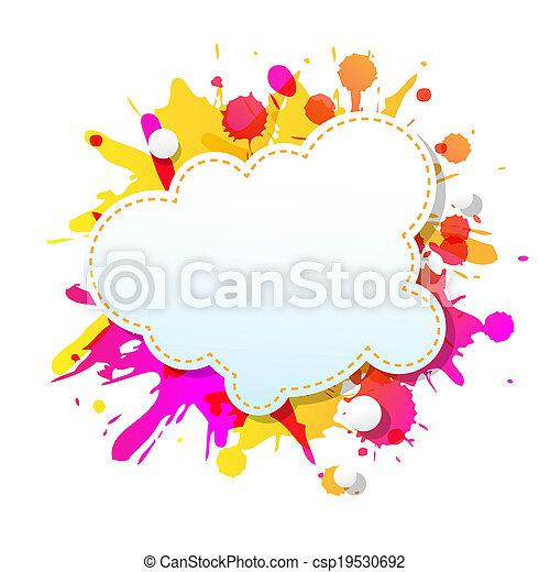 grunge, färg, affisch, abstrakt, anförande, bubblar - csp19530692