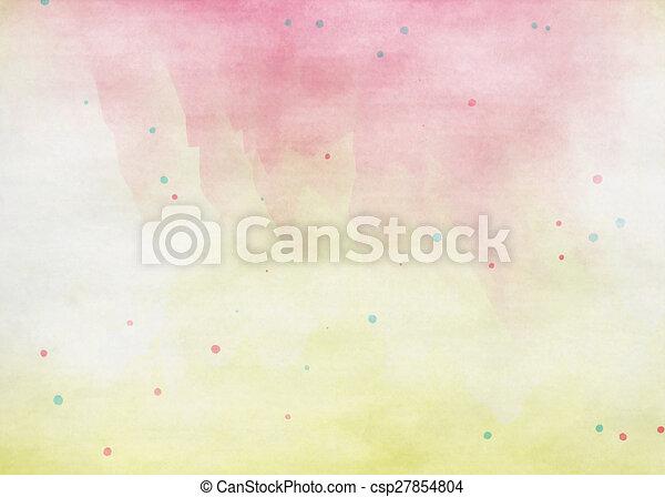 grunge, färgrik, watercolor., struktur, bakgrund., mjuk - csp27854804