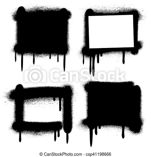 Grunge, farbe, rahmen, sprühen, vektor, graffiti, banner.... Clipart ...
