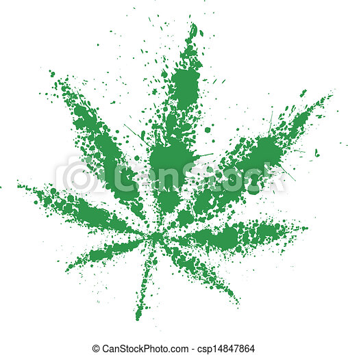 Grunge feuille illustration cannabis vecteur vert - Feuille cannabis dessin ...