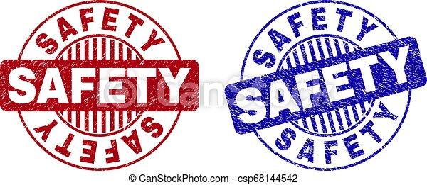 grunge, filigranes, sécurité, rond, textured - csp68144542