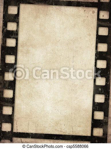 grunge film background  - csp5588066