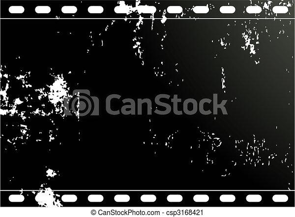 Grunge Camera Vector : Grunge film frame editable vector background grunge film frame