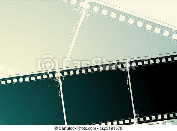 Grunge Camera Vector : Grunge film frame. editable vector background grunge film frame