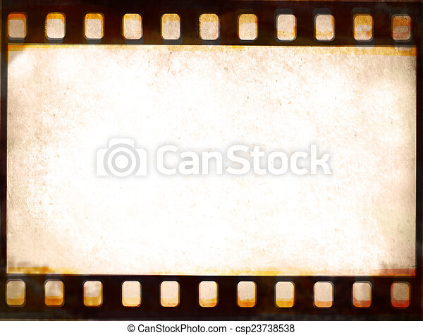 Grunge film strip frame background .