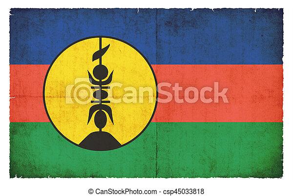 Grunge flag New Caledonia (France) - csp45033818