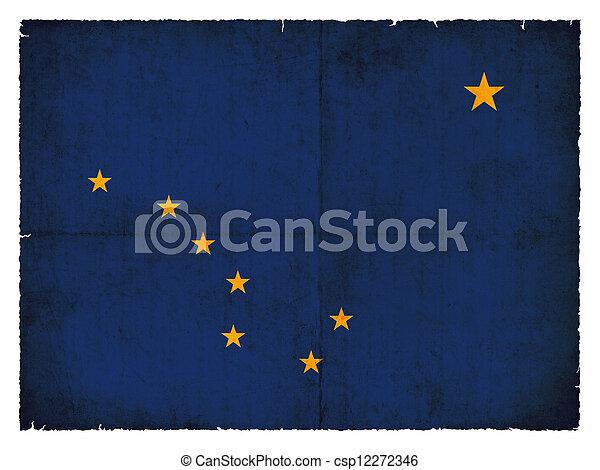 Grunge flag of Alaska (USA) - csp12272346