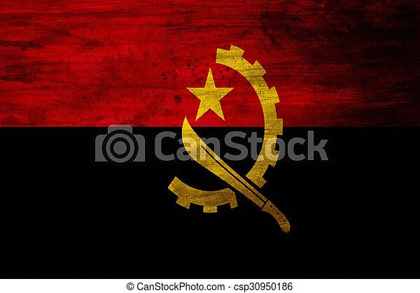 Grunge Flag of Angola - csp30950186