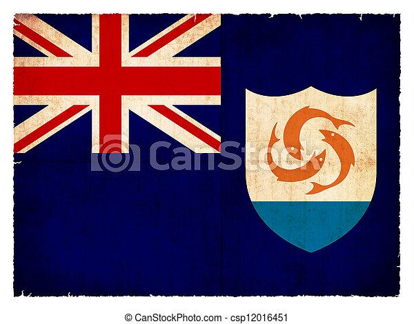 Grunge flag of Anguilla (British overseas territory) - csp12016451