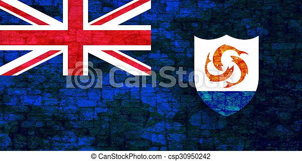 Grunge flag of Anguilla - csp30950242