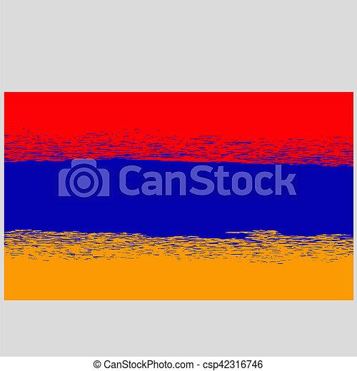 Grunge Flag of Armenia - csp42316746