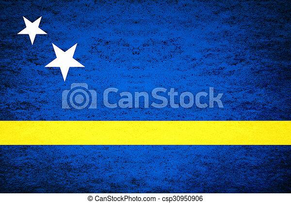 Grunge flag of Curacao - csp30950906