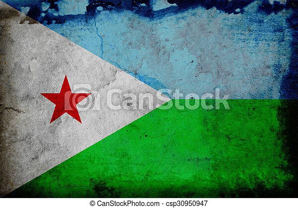 Grunge flag of Djibouti - csp30950947
