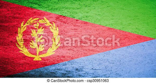 Grunge flag of Eritrea - csp30951063