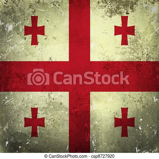 Grunge flag of Georgia - csp8727920
