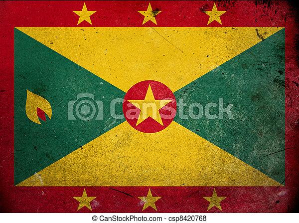 Grunge Flag of Grenada - csp8420768