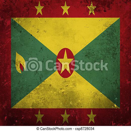 Grunge flag of Grenada - csp8728034