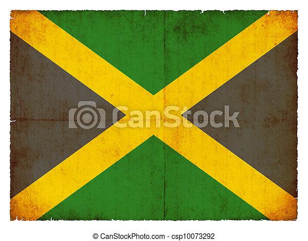 Grunge flag of Jamaica - csp10073292