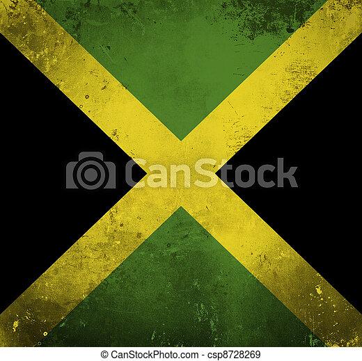Grunge flag of Jamaica - csp8728269