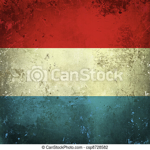 Grunge flag of Luxembourg - csp8728582