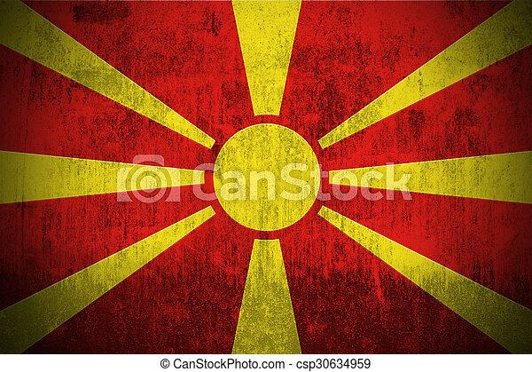 Grunge Flag Of Macedonia - csp30634959