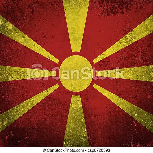Grunge flag of Macedonia - csp8728593