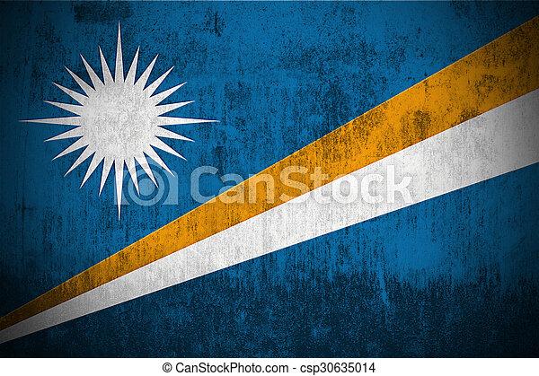 Grunge Flag Of Marshall Islands - csp30635014