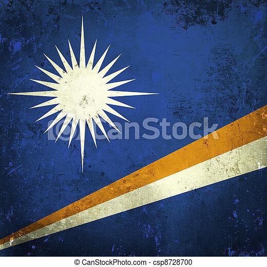 Grunge flag of Marshall Islands - csp8728700