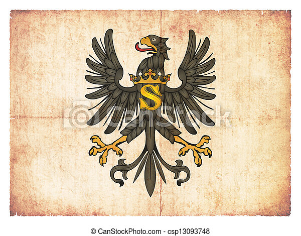 Grunge flag of Prussia (historic) - csp13093748