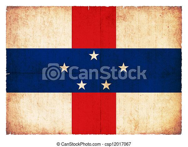 Grunge flag of the Netherlands Antilles - csp12017067