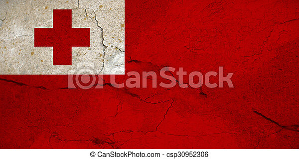 Grunge flag of Tonga - csp30952306