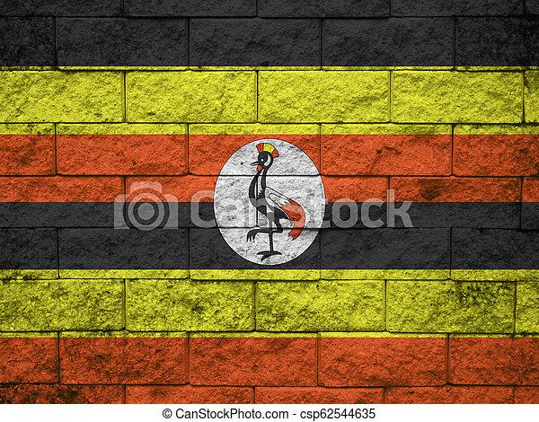 Grunge flag of Uganda - csp62544635
