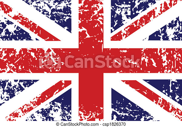 Grunge flag of United Kingdom - csp1826370