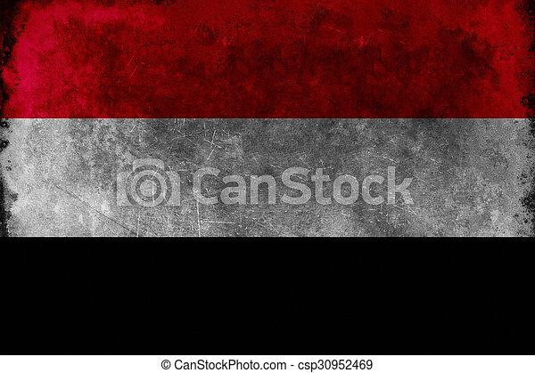 Grunge flag of Yemen - csp30952469