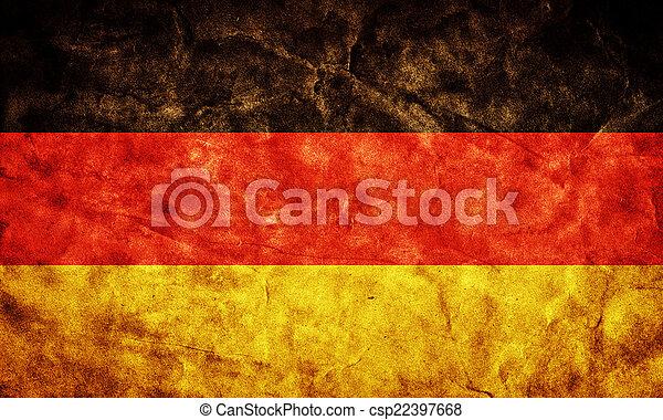 La bandera grunge alemana. Un objeto de mi colección de banderas retro - csp22397668